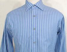 PAUL SMITH Regular Fit Blue Stripe Men's Shirt Size 15 1/2 34 35 Italy 39