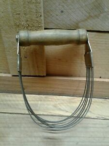 Vintage Androck Wire Whisk Wood Handle