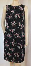 Laura Ashley Kleid 38 schwarz rosa Rosen Blumen Hochzeit Cocktailkleid Etuikleid