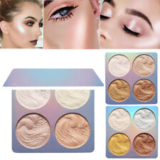 Professional Makeup Face Powder 4 Colors Bronzer Highlighter Powder Palette Gold