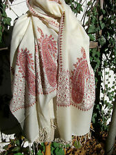 4dcca89e63afdc Wollschal Kashmirschal Stola 50 % Kaschmir 50% Wolle allover bestickt K-001  neu