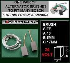 24 VOLT BOSCH alternator Pennelli Brush set & saldatore bx198 VOLVO VW Mercedes