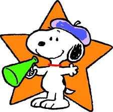 "Snoopy Cartoon Car Bumper Sticker Decal 5"" x 5"""