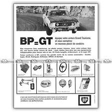 PUB BP & FORD MUSTANG au Monte-Carlo - AD Oil can / Publicité Bidon d'huile 1967