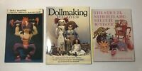Lot of 3 Toy and Doll Making Books Frith Laury Taylor Van Nostrand 1970-1987