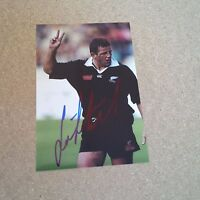 SEAN FITZPATRICK RUGBY player ALL BLACKS IN-PERSON signed photo 4 x 6 autograph