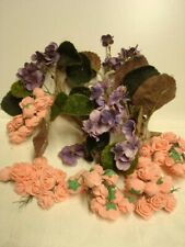 Vintage Millinery Hat Supplies Flowers Branches Hat