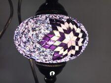 1 Handmade Mosaic Glass table lamp W  LED BULBS New LARGE GLOBE Purple Color