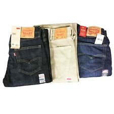Levis Levi Strauss Mens 505 Regular Fit Straight Leg Denim Jeans Pants