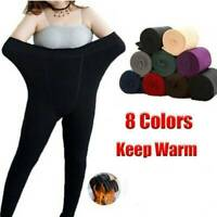 Hot Fleece Lined Seamless Leggings Winter Thick Thermal Warm Stretch Women Pants