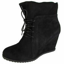 Wedge Lace Up Solid Boots for Women