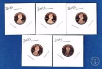 2013 S Through 2017 S Proof Lincoln Cents Penny-Gem Proof-Five Proof Pennies