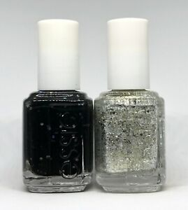 Essie Nail Polish Belugaria 3019 + Hors D'oeuvres 3020 Matte Glitter Lacquer