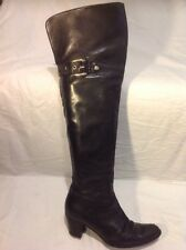 LODI Black Over Knee Leather Boots Size 38