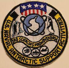 US Naval Antarctic Support Activities Antarctica Navy Patch