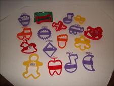 17 WILTON Hallmark Perimeter Cookie Cutters - Hand FOOT Tooth PLANE Skate +++