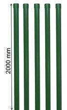 5 Zaunpfosten 2000 mm grün 6005 Zaunpfahl Pfosten 34mm Metall-zaun Schweißgitter