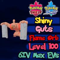 Shiny Conkeldurr 6IV Max EVs / Pokemon Sword & Shield / Adamant Guts Flame Orb