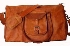 Genuine Leather Man's travel tote duffle gym shoulder bags Carry On Hand Bag New