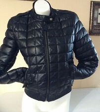 NWT $1695 Burberry Brit Boblington Quilted Lambskin Leather Jacket Coat SZ 10