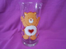 VINTAGE Pizza Hut Care Bear Glass Tenderheart EUC Shiny and Bright
