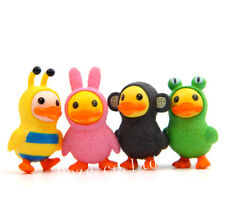 4pcs Yellow Duck  Figures Statue Mini Landscape Garden Decor Stakes Toys #1