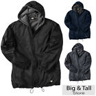 Dickies Big Men's Hooded Nylon Zip Jacket 2XL 3XL 4XL 5XL Fleece Lined