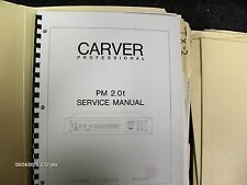Carver Professional Model PM 2.0t Amp Service Manual