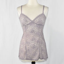Gilligan & O'Malley Sexy Lace Babydoll Lingerie SMALL Women's Lavender Purple