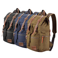 Travel Canvas Sport Backpack Rucksack School Satchel Laptop Camping Hiking Bag