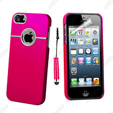 Housse Coque Rigide Silver-Line chromé Rose Apple iPhone SE 5S 5 + Mini Stylet