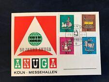 GERMANY 1969 CARD TIN TOYS TRAIN LOCOMOTIVE HORSE KNIGHT GARDENER BIRDS ANUGA