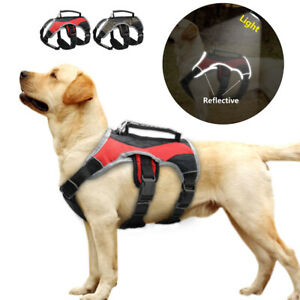 Reflective No Pull Dog Harness Soft Mesh Working Vest with Lift Handle Large Dog