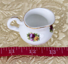 Miniature 1 1/2 in creamer Old Country Roses - Royal Albert Doulton 1998