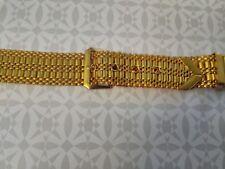 BRACELET MONTRE  DORE /  /  18mm   style ceinture   /*GM23  vintage