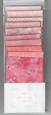 Patchwork Quilt Stoffpaket rosa 10 verschiedenen Stoffstücken a 25x25 cm