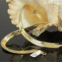 Damen Collier Schlangenkette 45 / 48 / 50 cm 750er Gold 18 Karat vergoldet K1818
