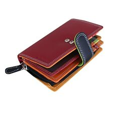 Designer Ladies Wallet Womens Luxury Multicoloured Nappa Leather with Gift Bag