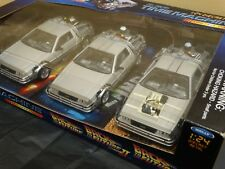 Welly Delorean Back To The Future Trilogy Pack 1:24 Scale Diecast Movie Car Lot