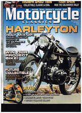MOTORCYCLE CLASSICS MAR-APR 2009 HARLEY/NORTON HYBRID 1934 VL '59 5TA SPEED TWIN