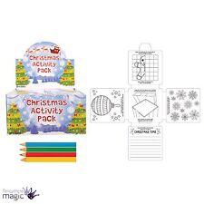 Paquete De Juego Para Niños Niños Navidad Actividad Set Colorante Lápices De Colores Regalo De Navidad Eve