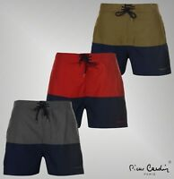 Mens Pierre Cardin Lace Up Pockets Cut And Sew Swim Shorts Sizes from S to XXL