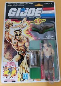 Vintage 1986 GI Joe Raptor figure MOC