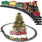 Prextex Christmas Train Set- Around The Christmas Tree with Real Smoke, Music &