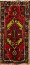 one-of-a-Kind Vintage Geometric Tribal Oushak Hand-Knotted Turkish 6x12 Wool Rug
