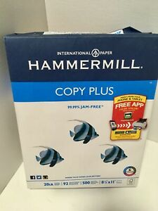 "HAMMERMILL Copy Plus Paper 2,500 8.5""x11"" Sheets 5-Ream Case Printer/Copier/Fax"