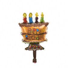 1 X Happy Birthday Mini Chocolate Cake Balloon Foil Balloons Party Supplies liau