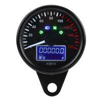 Moto Digital LED Compteur De Vitesse Tachymètre Vitesse Jauge Noir avec LCD