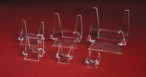 """*#Plate Dish Dinnerware Tile Acrylic Display Stand Easel Holder """"WHOLESALE"""""""