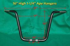 """16"""" BEEFY 1.25"""" Black Ape Hanger Handlebar fits Harley Davidson SPORTSTER 1200"""